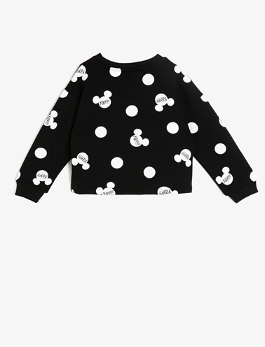 Koton Kids Minnie By Koton Sweatshirt Siyah
